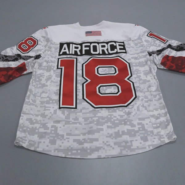 "Photo of Ohio State Ice Hockey Military Appreciation Jersey #18 ""Air Force"" / Size 54"