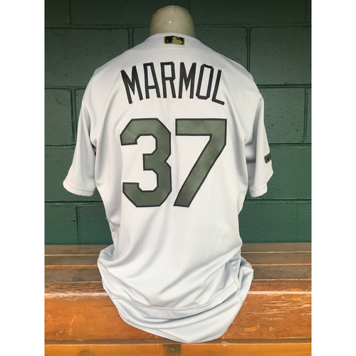 Photo of Cardinals Authentics: Oliver Marmol Game Worn Road Grey Memorial Day Jersey