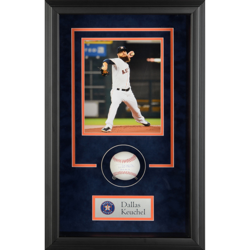 Photo of Dallas Keuchel Houston Astros Framed Autographed Baseball Shadowbox with 2015 AL CY Inscription