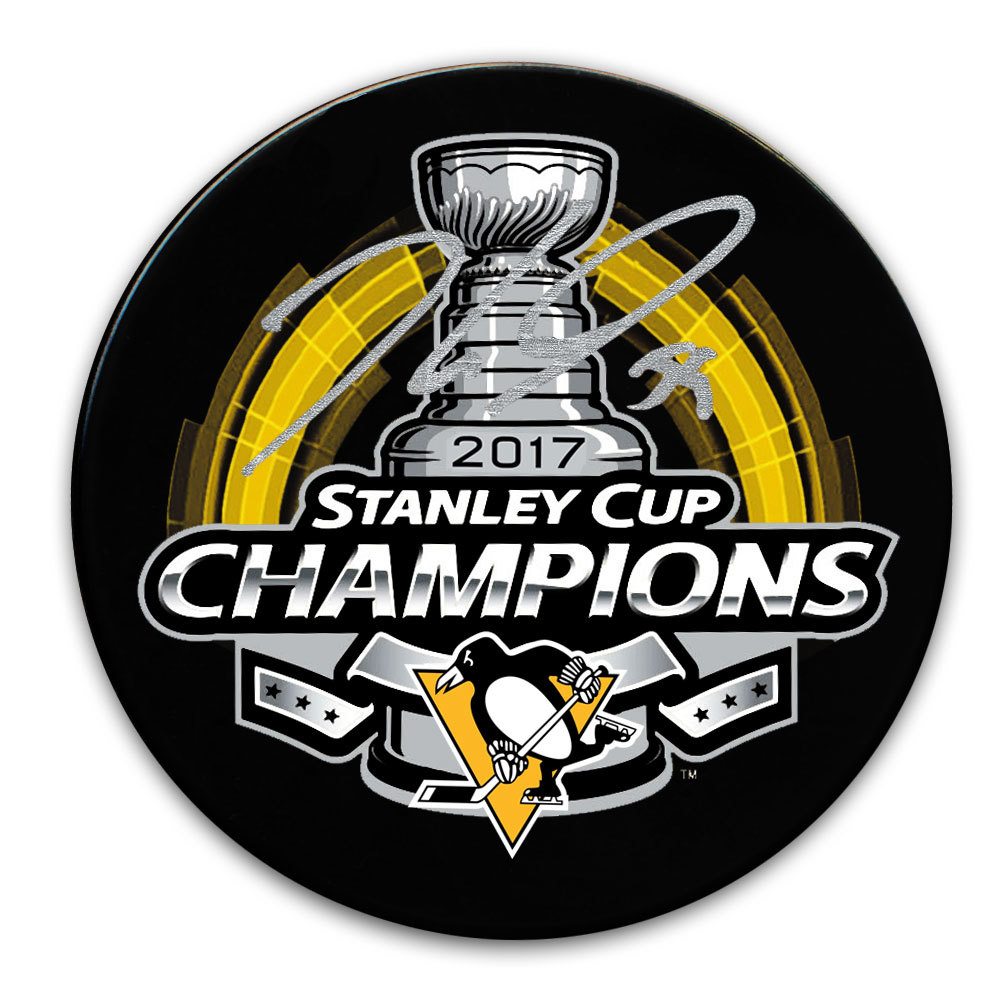 Jake Guentzel Pittsburgh Penguins 2017 Stanley Cup Champs Autographed Puck