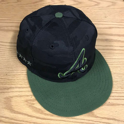 Ronald Acuna Jr. Game-Used Memorial Day Cap - May 27, 2018 - Size 7 1/4