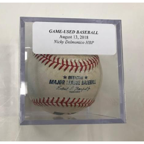 Photo of Game-Used Baseball: Nicky Delmanico Hit by Pitch