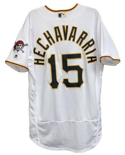 Photo of Adeiny Hechavarria 2018 Game-Used Jersey - 2 for 4