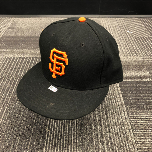 Photo of 2016 Game Used Regular Season Cap worn by #34 Tony Sanchez - Size 7 1/2