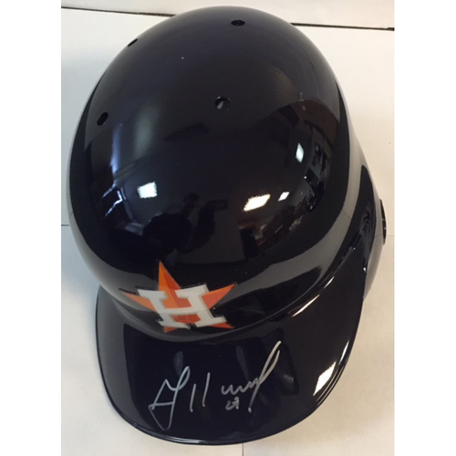 Photo of Jose Altuve Autographed Astros Batting Helmet
