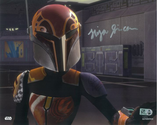 Tiya Sircar As Sabine Wren 8X10 Autographed in Silver Ink Photo