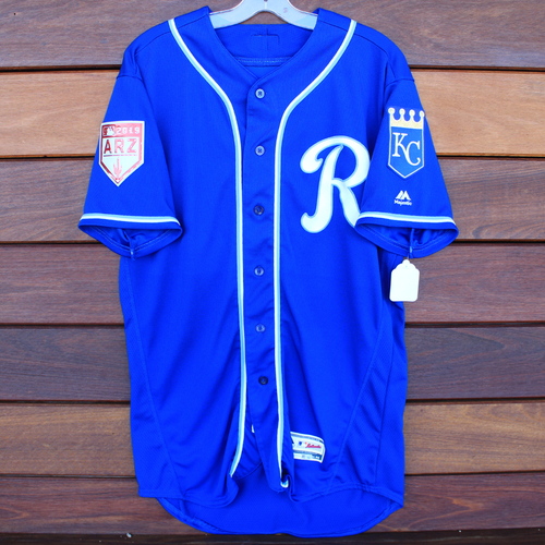 Photo of Game-Used Spring Training Jersey: Richard Lovelady (Size 44 - COL @ KC - 2/25/19)