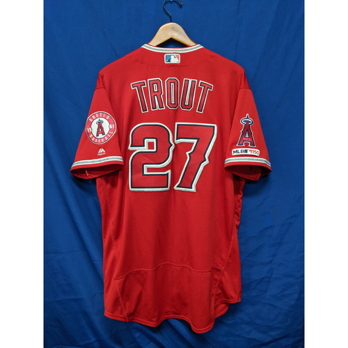 Mike Trout Game Used Jersey: 2 Home Runs