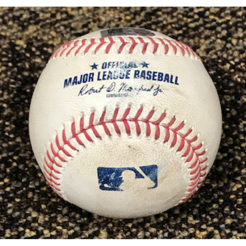 Photo of 8/5/20 Game-Used Baseball: Robbie Ray vs. Abraham Toro (Singled to Starling Marte, Scored Carlos Correa) and Kyle Tucker (Called Strike, Ball in Dirt)