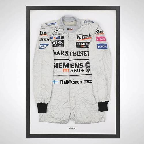 Photo of Kimi Raikkonen 2003 Race-worn Race Suit