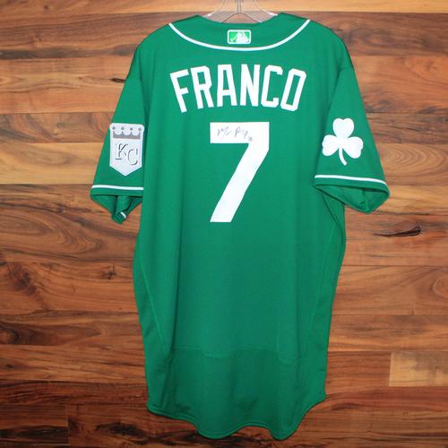 Photo of Autographed St. Patricks Day Jersey: Maikel Franco (Size 46)
