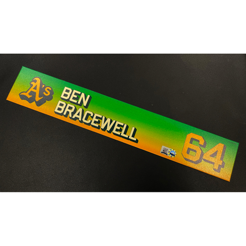 Photo of Team Issued 2020 Locker Nameplate - Ben Bracewell