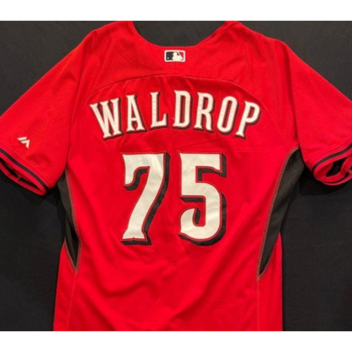 Photo of WALDROP -- Authentic Reds Jersey -- $1 Jersey Auction -- $5 Shipping -- Size 46 (Not MLB Authenticated)