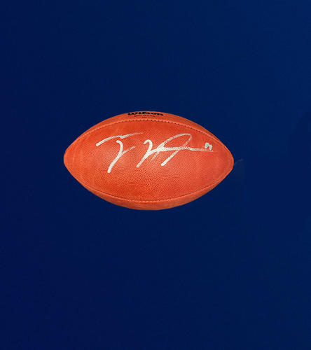 """Photo of Tyler Higbee Signed Authentic """"The Duke"""" Football"""