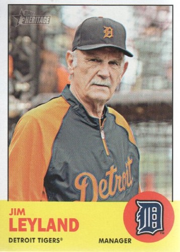 Photo of 2012 Topps Heritage #134 Jim Leyland MG