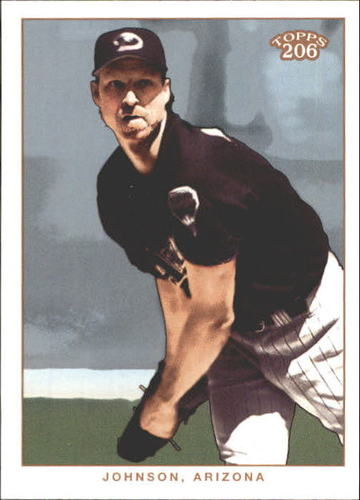Photo of 2002 Topps 206 #195A Randy Johnson Black Jsy