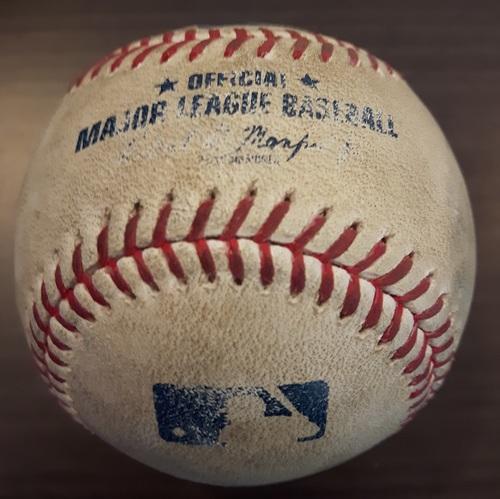 Photo of Authenticated Game Used Baseball - Tom Koehler Strikeout on September 8, 2017 (Top 8 vs John Hicks)