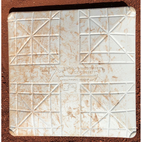 Photo of Game-Used Base: Miami Marlins vs Tampa Bay Rays - 5/2/17  (1st Base, 1st-3rd innings)