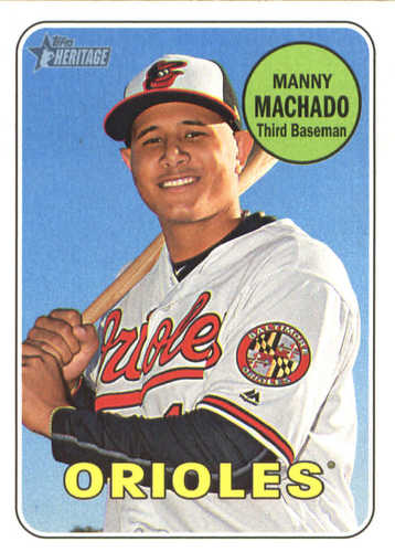 Photo of 2018 Topps Heritage #151 Manny Machado
