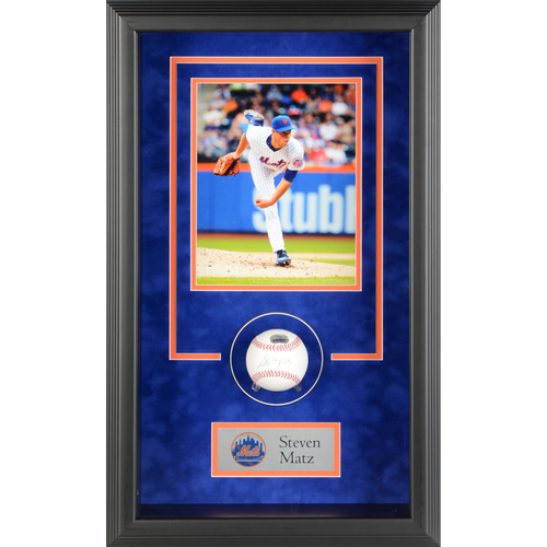 Photo of Steven Matz New York Mets Framed Autographed Baseball Shadowbox