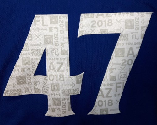 Photo of Authenticated Team Issued Spring Training 2018 Jersey - #47 Chris Rowley. Size 46