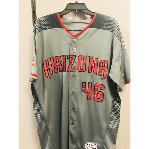 Photo of Patrick Corbin Road 4th of July Game-Used Jersey