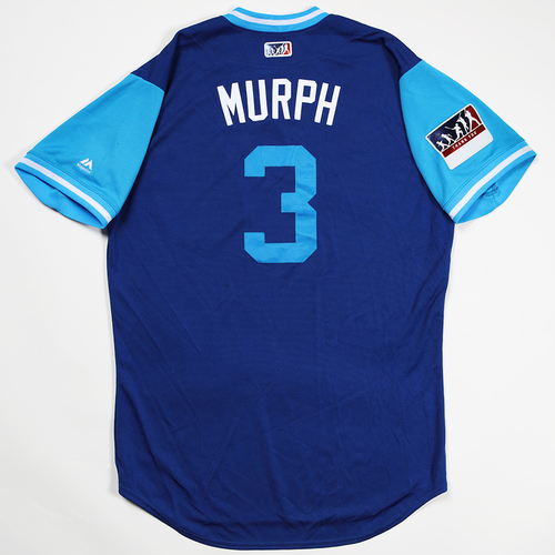 "Photo of Daniel ""Murph"" Murphy Chicago Cubs Game-Used 2018 Players' Weekend Jersey"