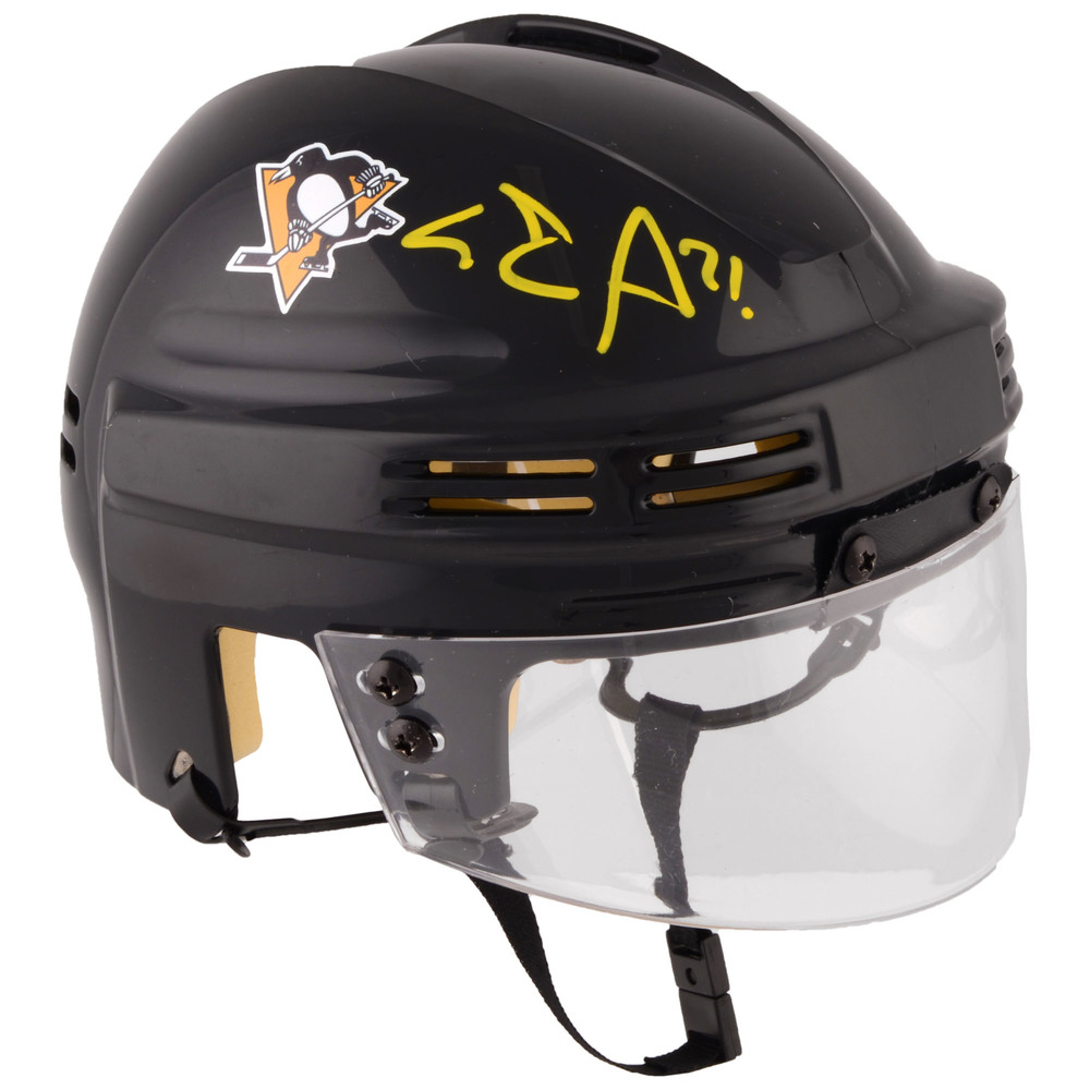 Evgeni Malkin Pittsburgh Penguins Autographed Black Mini Helmet