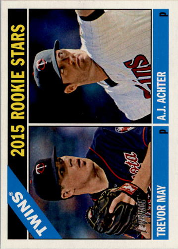 Photo of 2015 Topps Heritage #264 Trevor May RC/A.J. Achter RC