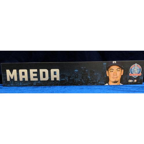 Photo of Kenta Maeda 2018 Regular Season Team-Issued Locker Tag