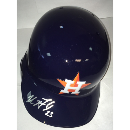 Photo of Michael Brantley Autographed Astros Batting Helmet