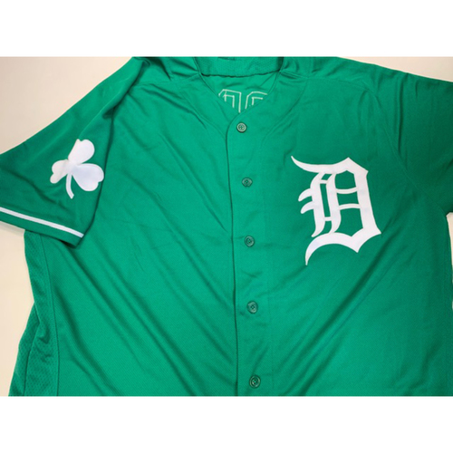 Photo of Team-Issued St. Patrick's Day Jersey: Miguel Cabrera