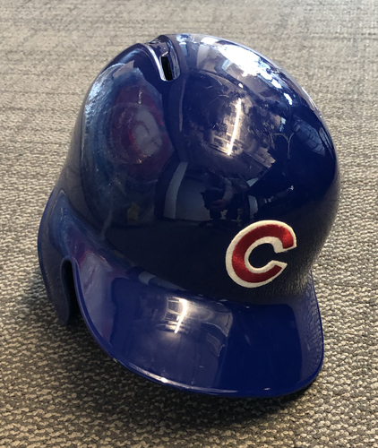 Photo of Anthony Rizzo Team-Issued Cracked Helmet -- 2019 Season -- Size 7 1/2