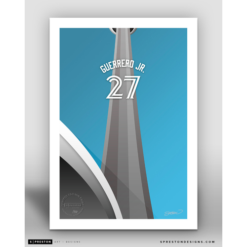 Photo of Minimalist Rogers Centre Vladimir Guerrero Jr. Player Series Art Print by S. Preston - Limited Edition