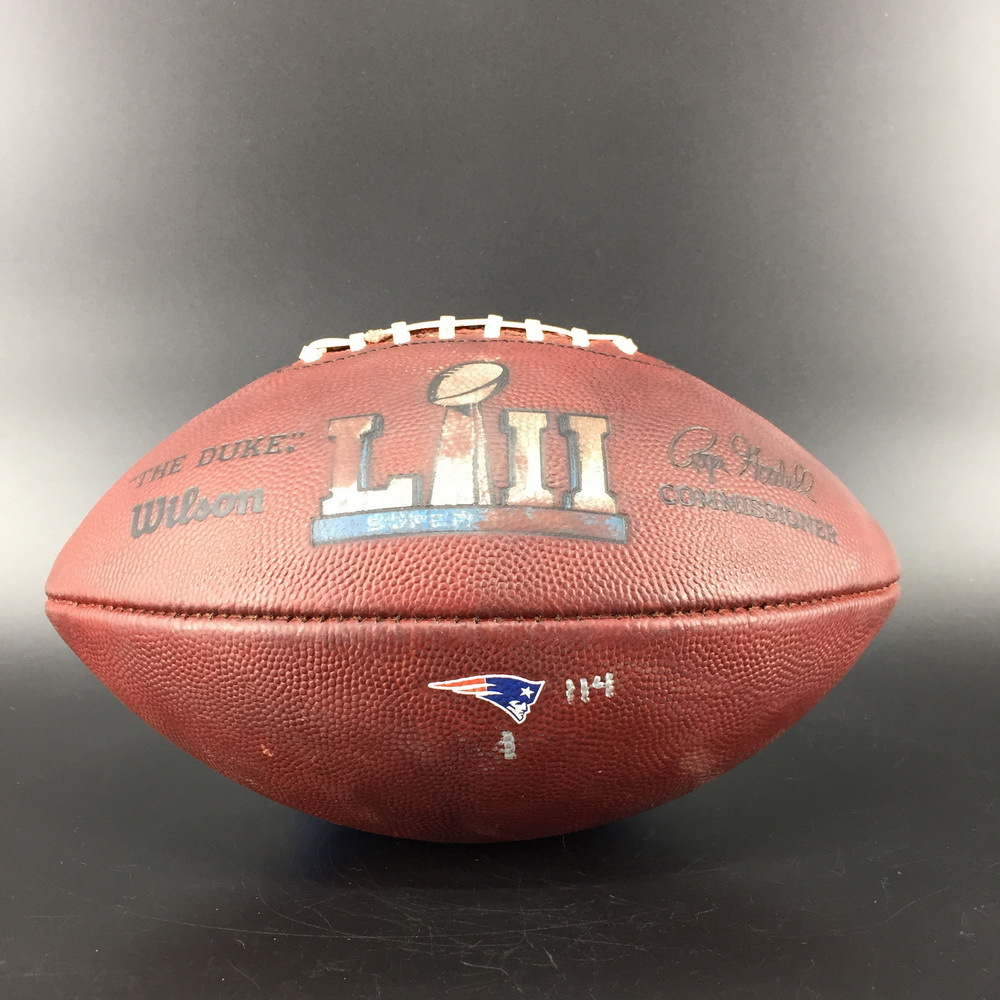 Disaster Relief - Patriots Super Bowl 52 Game Used Ball Patriots Offense