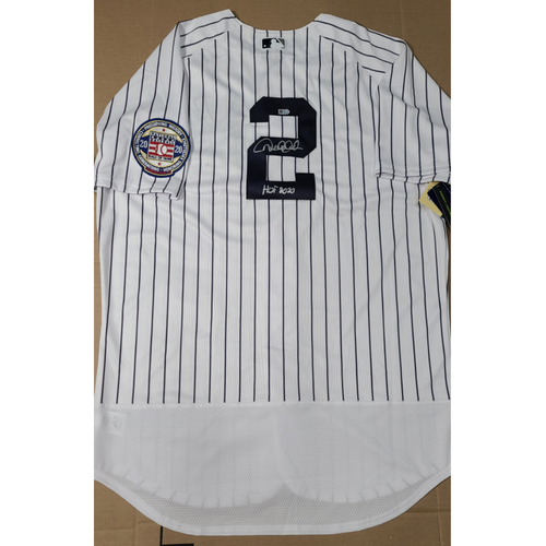 Photo of Exclusive! - Derek Jeter Autographed Jersey with 'HOF 2020' Inscription