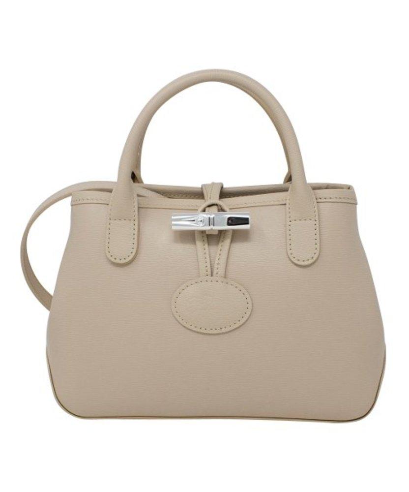 Photo of Longchamp Roseau Small Black Leather Shoulder Bag Purse Authentic Toggle Handbag