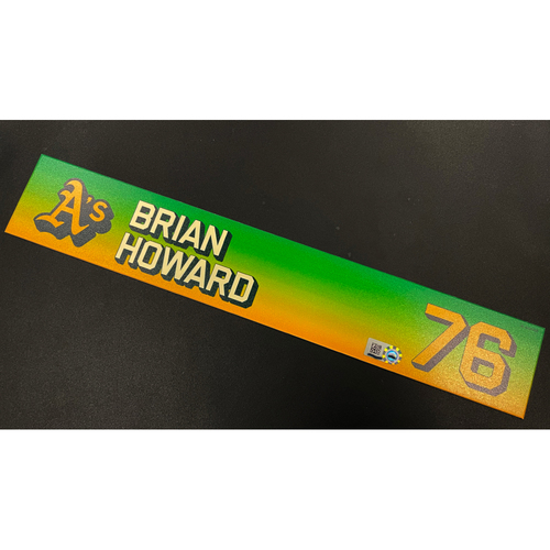 Photo of Team Issued 2020 Locker Nameplate - Brian Howard