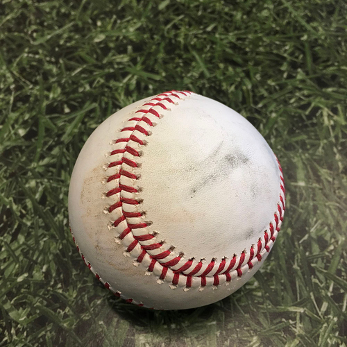 Photo of Game-Used Baseball PIT@MIL 06/11/21 - Brandon Woodruff - Michael Perez: Strikeout
