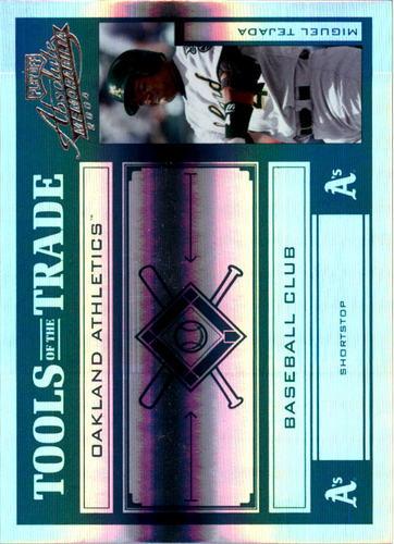 Photo of 2004 Absolute Memorabilia Tools of the Trade Green Spectrum #95 Miguel Tejada