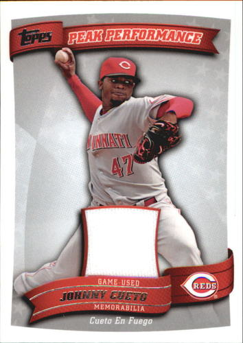 Photo of 2010 Topps Peak Performance Relics #JC Johnny Cueto S2 EXCH