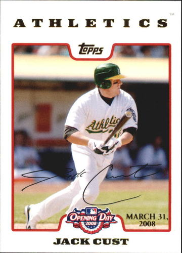 Photo of 2008 Topps Opening Day Gold #41 Jack Cust