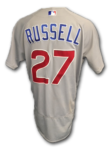 Photo of Addison Russell Game-Used Jersey -- Opening Day 2018 (2 Hits, 1 Run); Cubs at Marlins, 3/29/18 -- Cubs at Cardinals, 6/15/18 (3 Hits, 3 Runs, 1 RBI)