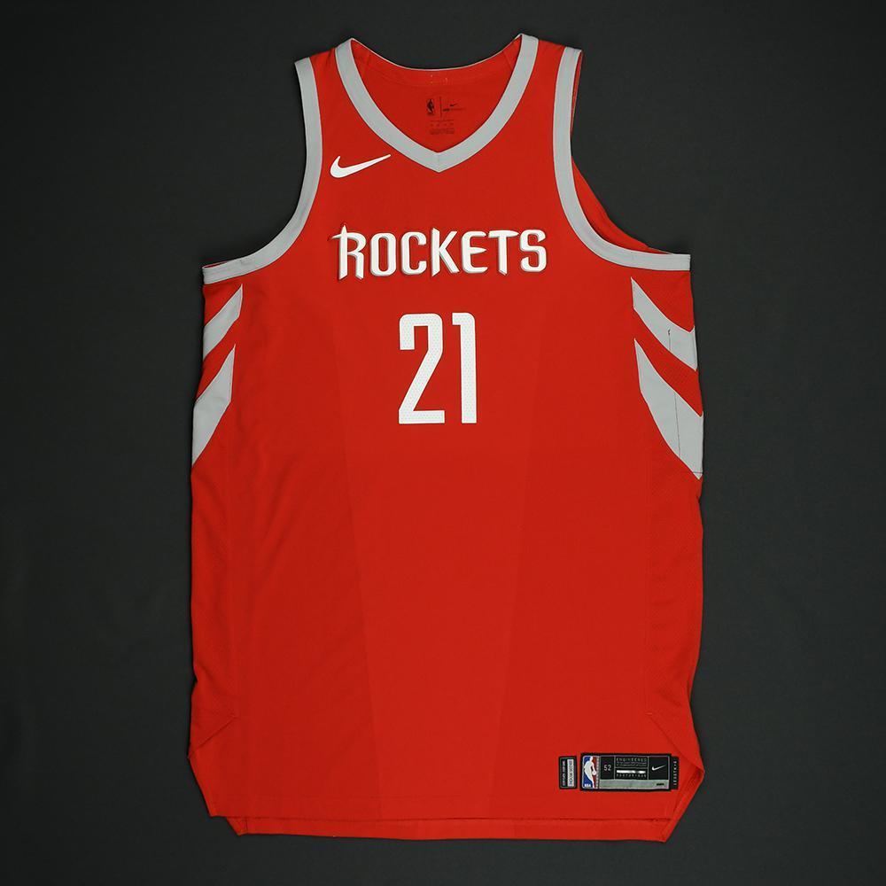 Chinanu Onuaku - Houston Rockets - NBA Christmas Day '17 Game-Issued Jersey