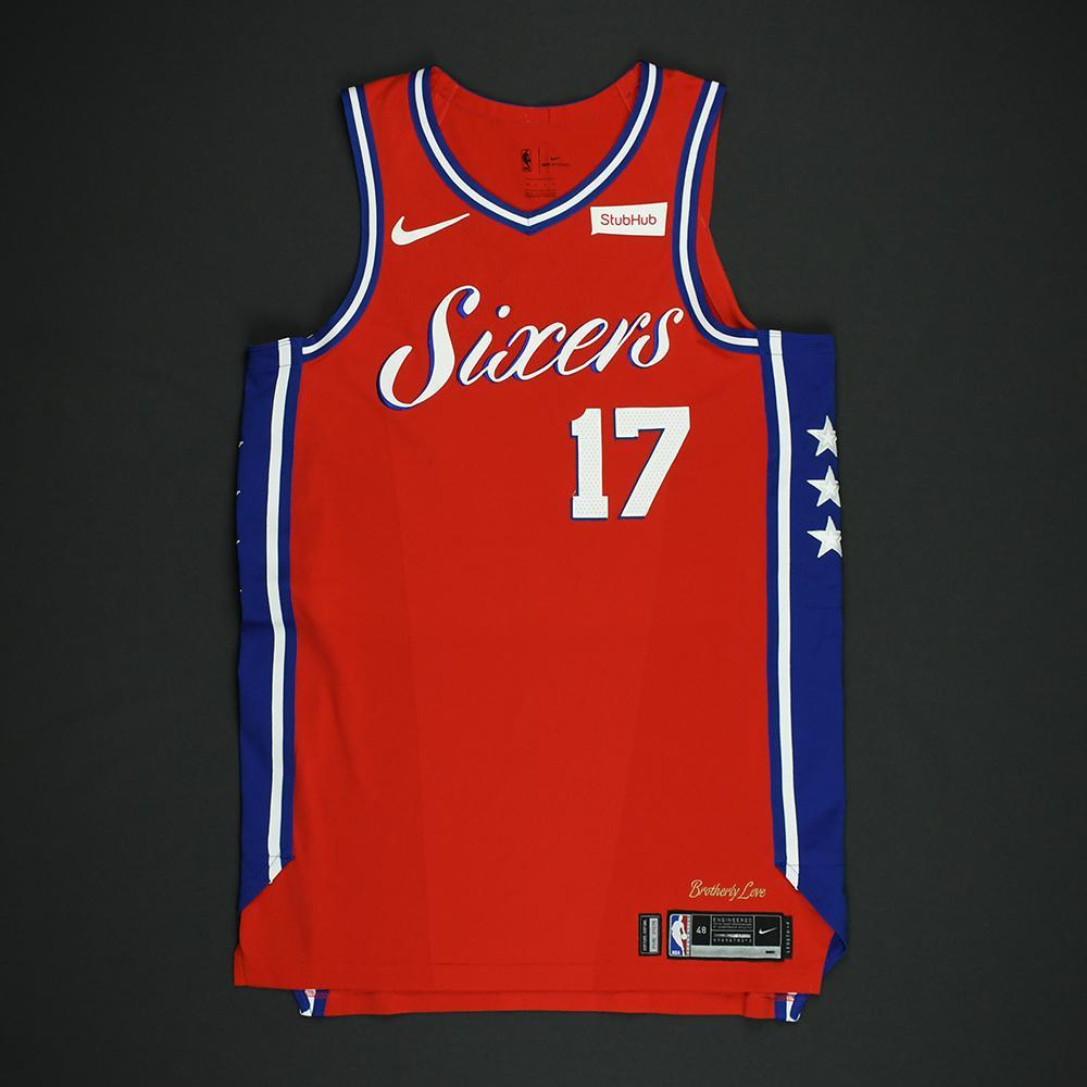 JJ Redick - Philadelphia 76ers - NBA Christmas Day '17 'Statement' Game-Worn Jersey