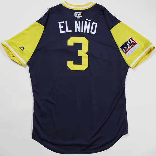 "Photo of Orlando ""El Nino"" Arcia Milwaukee Brewers Game-Used Jersey 2018 Players' Weekend Jersey"