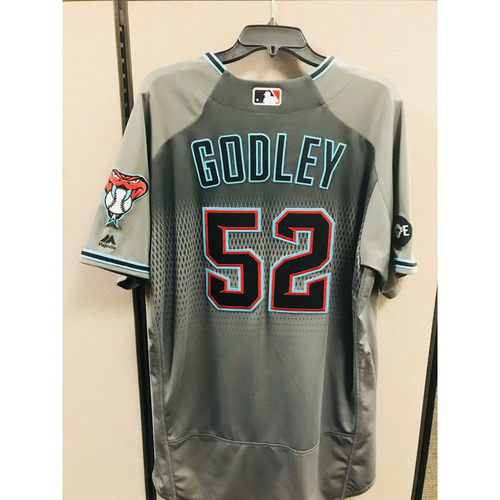 Photo of 2016 Game-Used Zack Godley Jersey