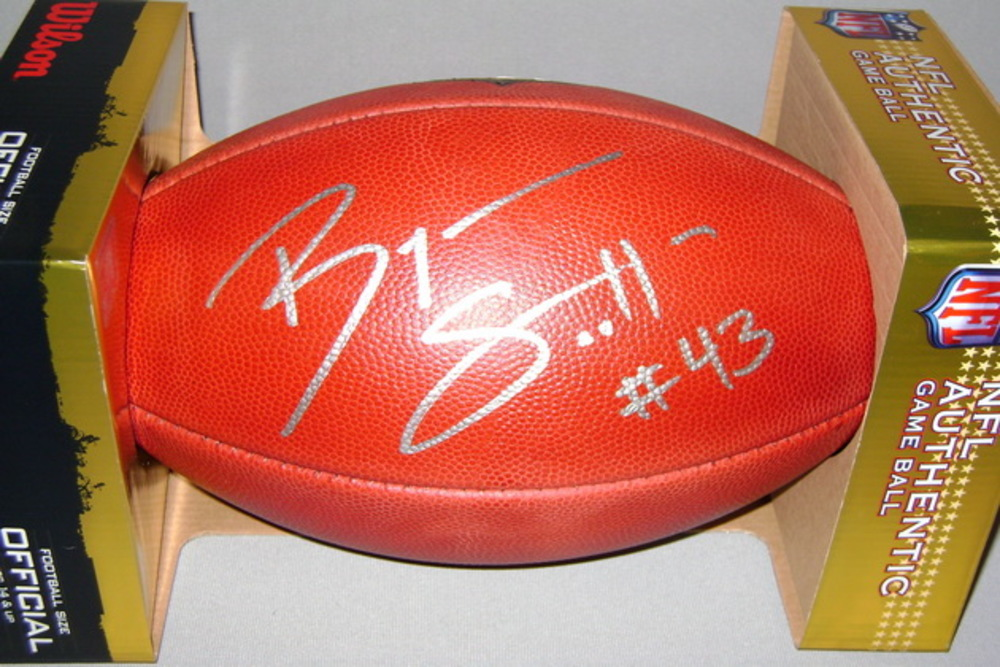 NFL - BILLS BRYAN SCOTT SIGNED AUTHENTIC FOOTBALL