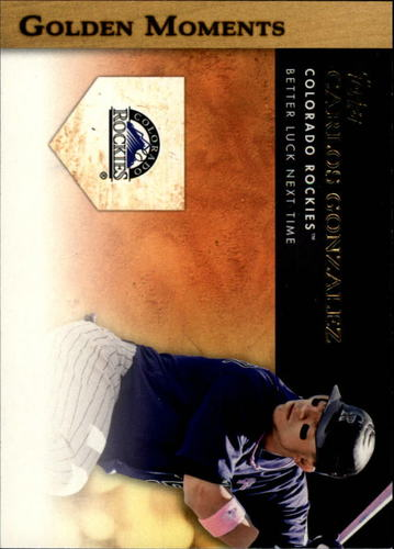 Photo of 2012 Topps Golden Moments Series 2 #GM16 Carlos Gonzalez