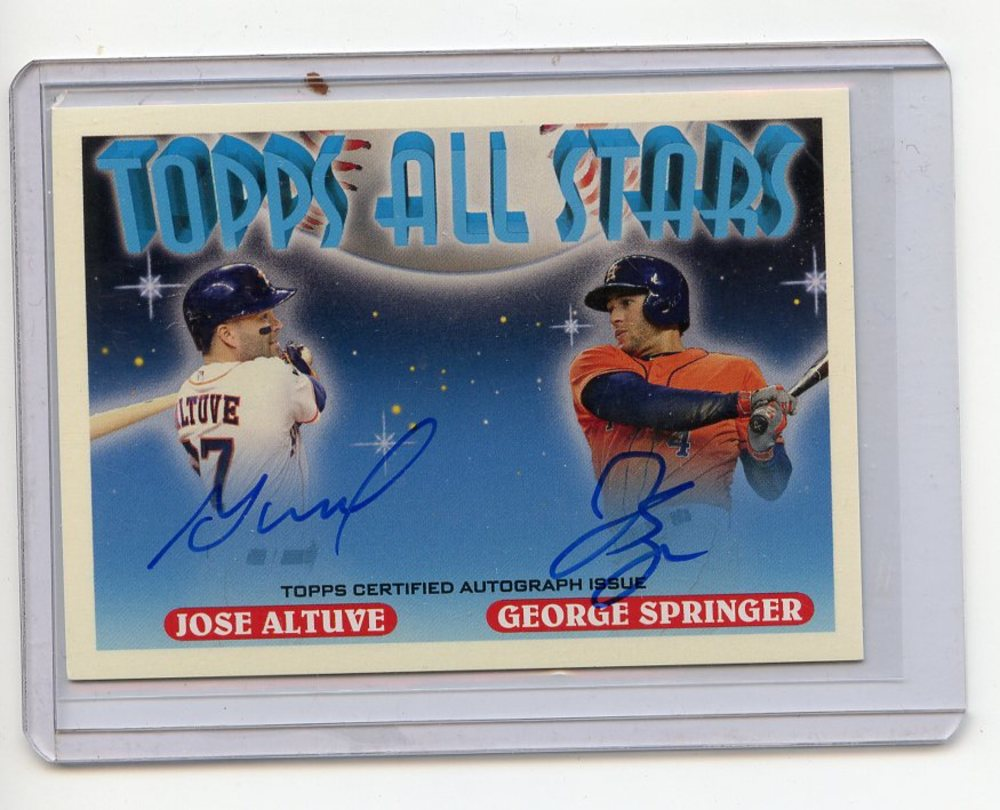 2018 Topps Archives '93 All Stars Dual Autographs #DAAS Jose Altuve/George Springer 14/25
